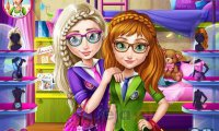 Elsa i Anna w szkole