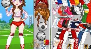 Dziewczyna grająca w piłkę nożną