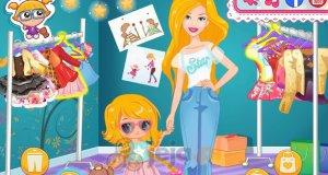Barbie na zakupach z córką