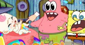SpongeBob i Patryk jako niańki