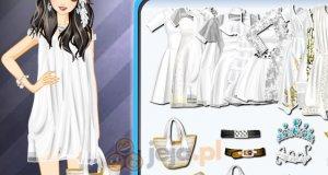 Krótkie białe sukienki