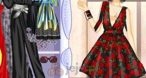 Suknie z dekoltem V