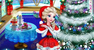 Świąteczna dekoracja pokoju Elsy