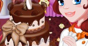 Słodki tort weselny