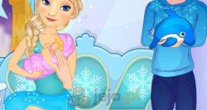 Elsa karmi piersią