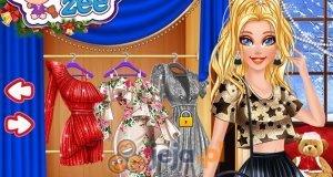 Barbie i świąteczny makijaż