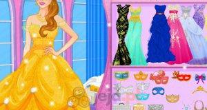 Księżniczka Disneya na bal maskowy