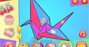 Hello Kitty i nauka origami