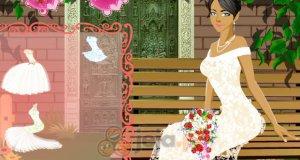 Panna młoda w ogrodzie