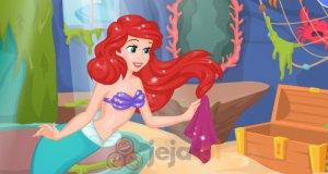 Ariel sprząta domek