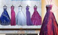 Purpurowe sukienki