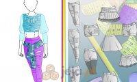 Projektowanie - Dziewczyna skejt