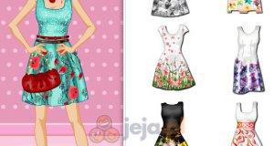 Sukienki z kwiatowymi akcentami