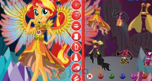Sunset Shimmer w lesie Everfree