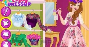 Bella i ubrania w kwiatki