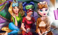 Księżniczki na piżamowej imprezie