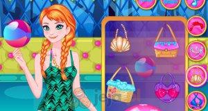 Anna i Elsa na basenie