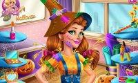 Victoria i kostium na Halloween