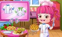 Baby Hazel w kuchni