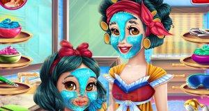 Prawdziwy makijaż Śnieżki i jej córeczki