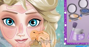 Elsa w szkole makijażu
