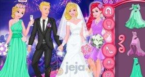 Księżniczki Disneya na ślubie Barbie