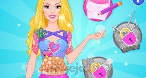 Barbie projektuje top