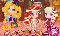 Księżniczki Chibi na Halloween