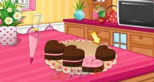 Serduszka brownie z kremem