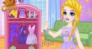 Fioletowe sukienki Roszpunki