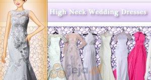 Sukienki ślubne dla panienek z długą szyją