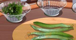 Zielona sałatka z fasolą