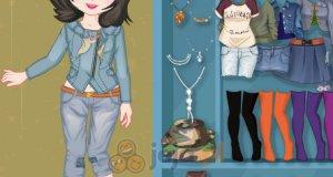 Jeansowa dziewczynka
