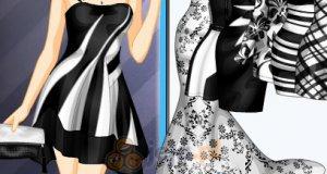 Czarno-białe sukienki