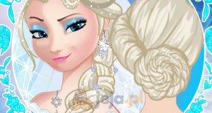 Fryzura ślubna Elsy