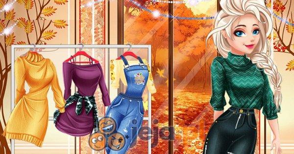 Jesienne stylizacje Barbie i Elsy