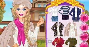 Barbie i jesienny spacer