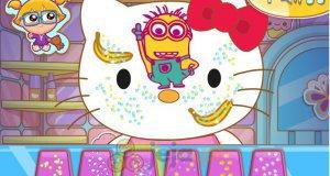 Hello Kitty i malowanie twarzy
