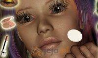 Makijaż wróżki Gwefelyn
