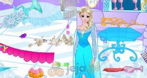 Elsa sprząta po imprezie