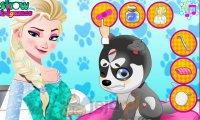 Elsa leczy szczeniaczka