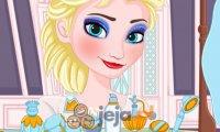 Elsa zmywa makijaż
