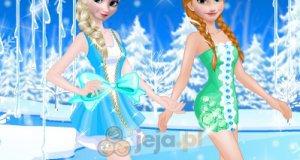 Elsa i Anna w imprezowych sukienkach