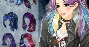 Niebiesko-fioletowe włosy