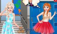 Elsa i Anna na linii frotu