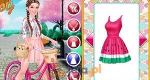 Barbie na rowerze