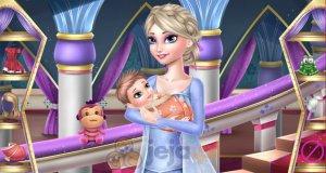 Zmęczona Elsa i dzieciątko