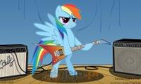 Rainbow Dash na gitarze