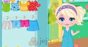 Mała Elsa na pikniku