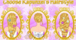 Roszpunka na próbnej fryzurze ślubnej